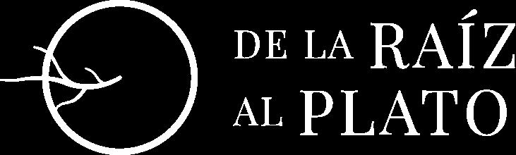 Logo blanco De la Raíz al Plato