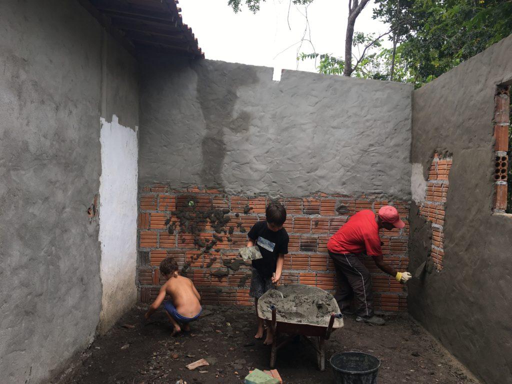 Construcción de nuestro hogar en Brasil