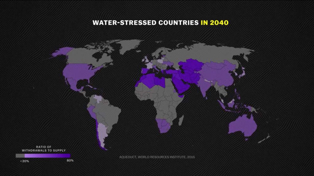 Países que tendrán problemas de agua para el 2040