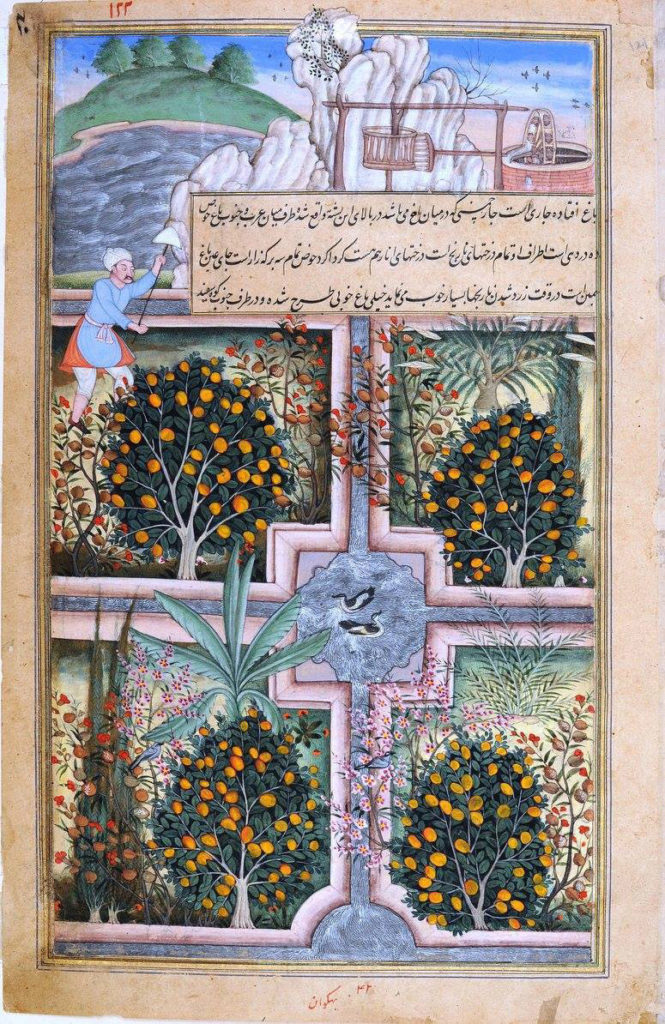 Representación gráfica del Char-bagh