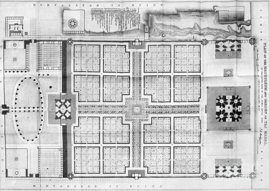 Plano del Taj Mahal, India